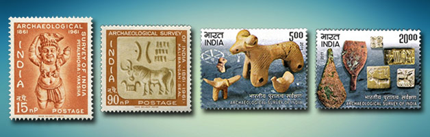 Commemorative Indian stamps