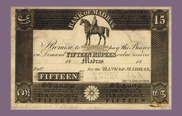 Bank Note Issued by the Bank of Madras