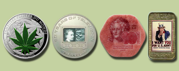 Unusual coins of the world
