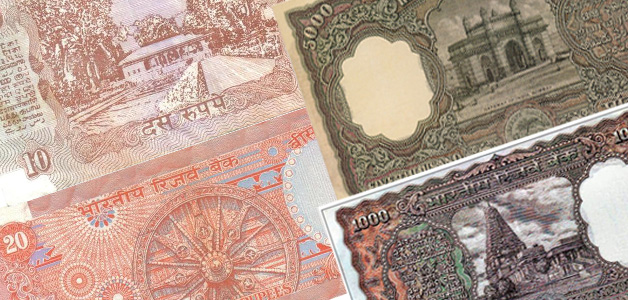 monuments on indian banknotes