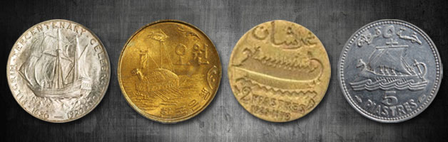 coins with ships