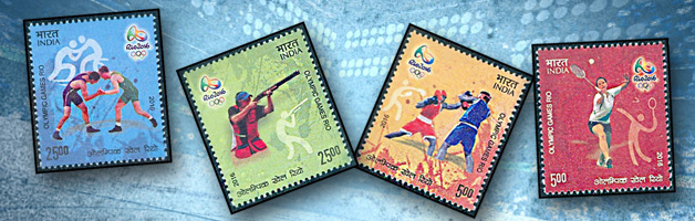 Rio Olympics Indian Stamps