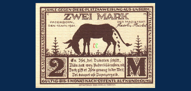 Strange banknotes germany