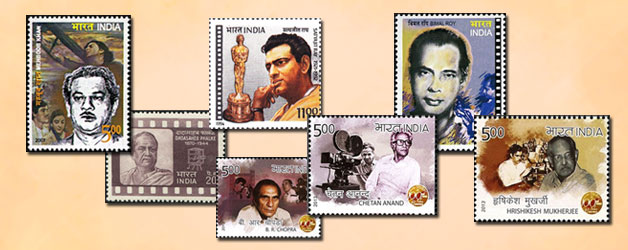 Filmmakers on stamps of India