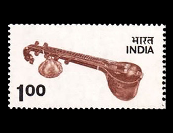 stamps of India featuring musical instruments