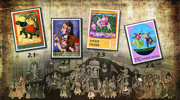 colorful-stamps-of-india
