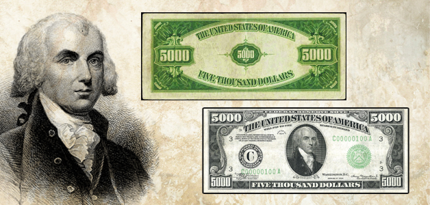 James Madison banknotes
