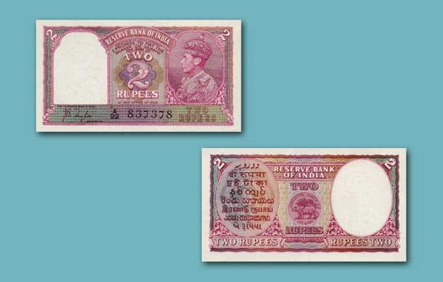 Rs 2 Notes of India