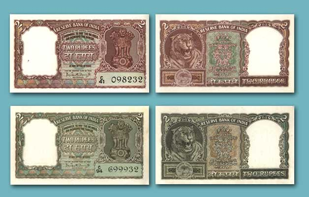 2 rupees notes