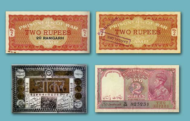 2 rupees notes history