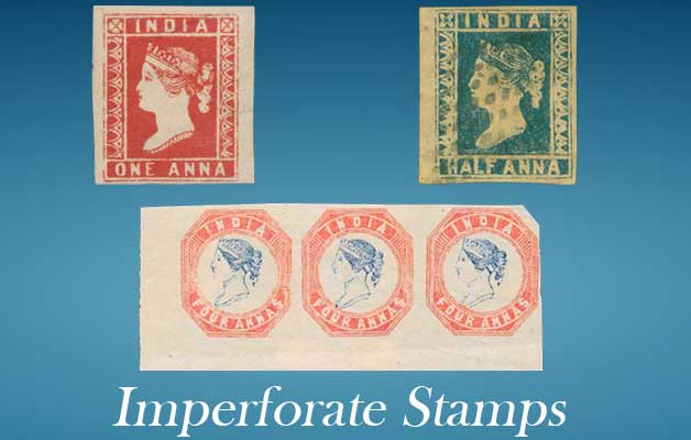 imperforate postage stamp