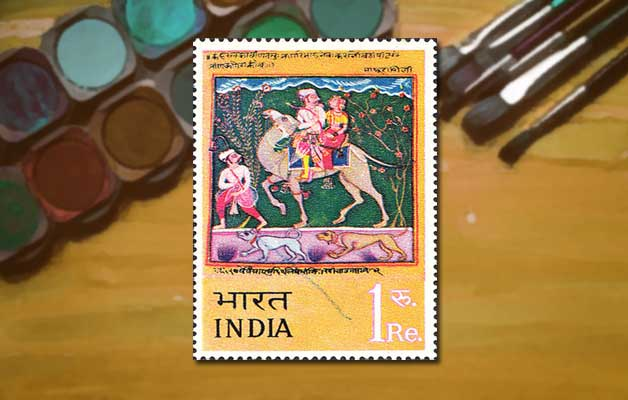 indian-miniature-paintings-on-stamps