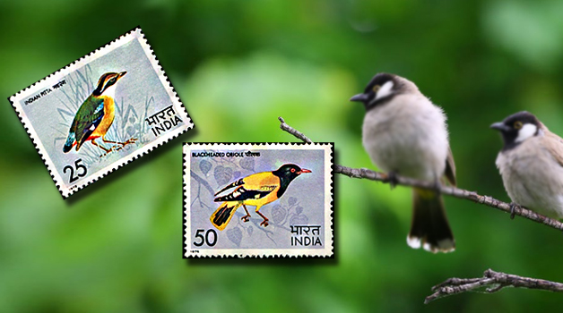 indian-birds-on-stamps
