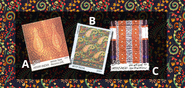 Textiles on stamps