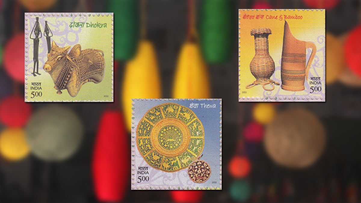Handicraft on stamps