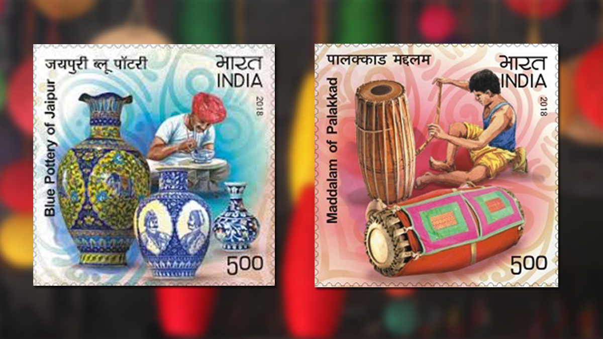 handicrafts on stamps