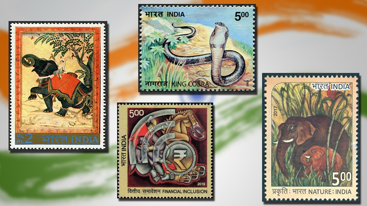 National Symbols of India featured on Stamps
