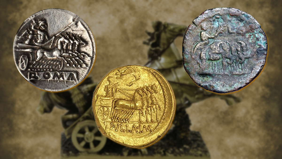 chariots on Roman Coins
