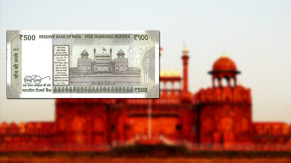Historical Monuments printed on Indian Currency