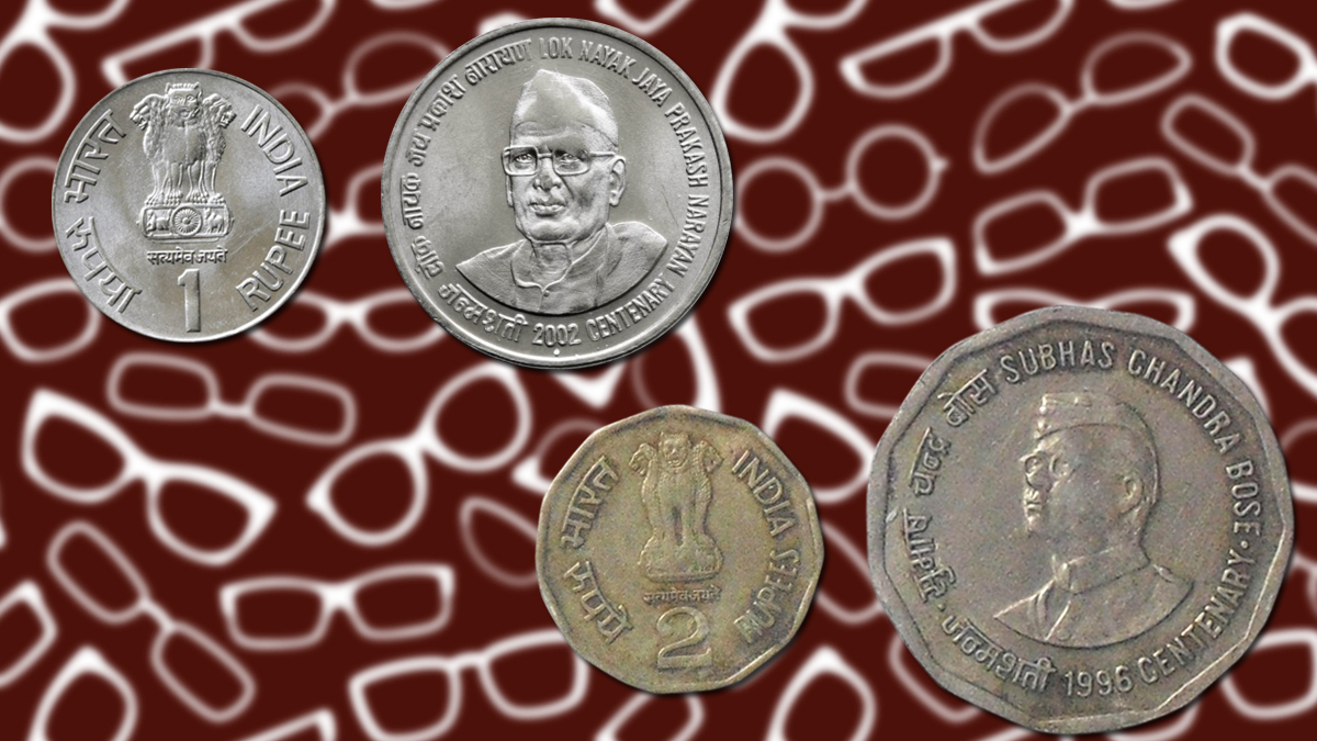 Specs portraits on coins