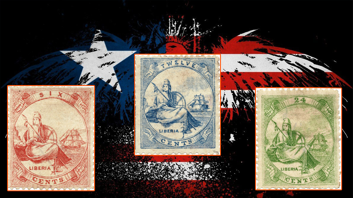 Liberian First Postage Stamps