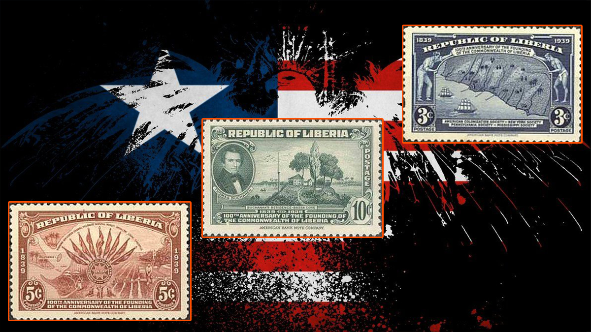 Liberian First Commemorative Stamps