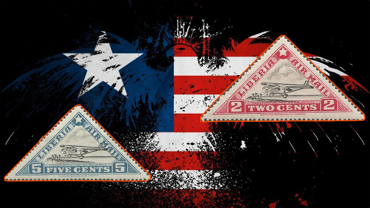 Liberian First Airmail Stamps