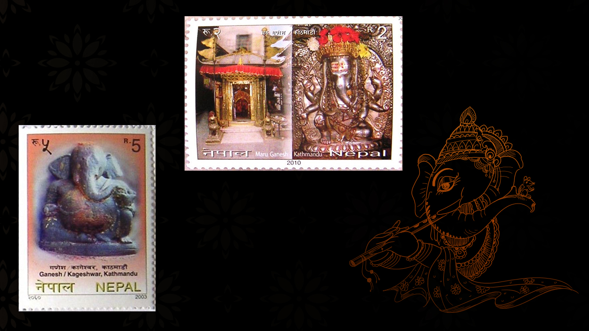 Lord Ganesha on Nepal Stamps