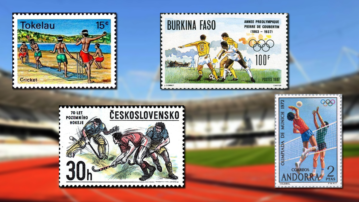 Sports Postage Stamps