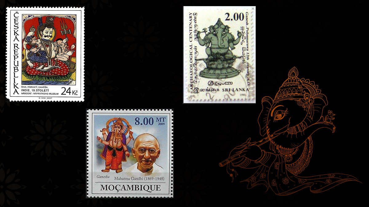 Lord Ganesha on Czech Stamps