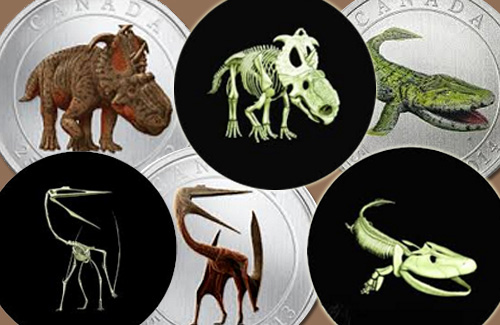Canadian-Prehistoric-Creature-Coins-That-Really-Glow!